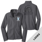 L217 - W230-S8.0-2014 - Emb - Ladies Fleece Jacket with Laser Etch Back