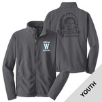 Y217 - W230-S8.0-2014 - Emb - Youth Fleece Jacket with Laser Etch Back
